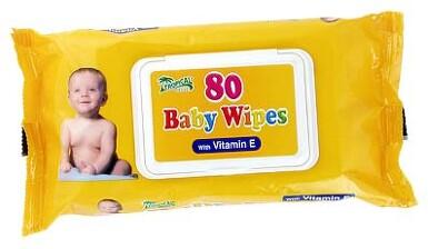 Ubrousky dětské hyg.Baby Wipes vit.E 80ks s distr.