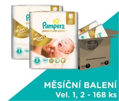 Pampers Premium Care POME Box 168 (MIX vel. 1   2)