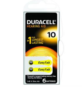 Baterie do naslouch.Duracell DA10 Easy Tab 6ks