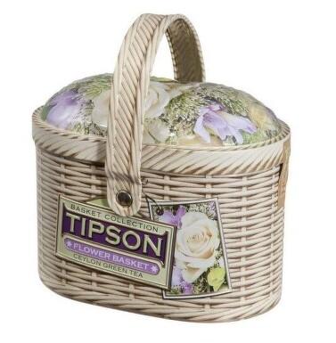 Čaj TIPSON Cejlon zelený sypaný Květin.košík 100g
