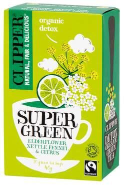 Clipper BIO Zelený čaj Bez Kopř.Fenykl Citr.20x2g