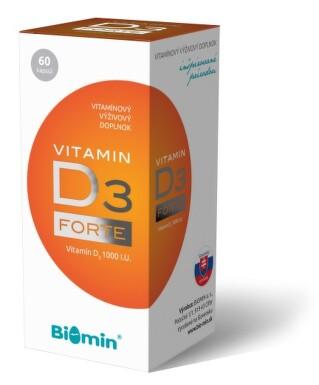 VITAMIN D3 FORTE 1000 I.U. tob.60 Biomin