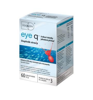 eye q žvýkací tob.60 jahodová příchuť