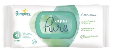 PAMPERS vlhčené ubrousky Aqua Pure 48ks