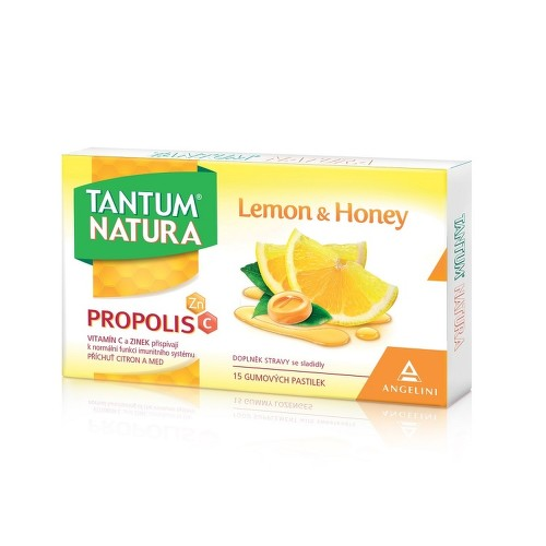 Tantum Natura Lemon Honey 15 gumových pastilek