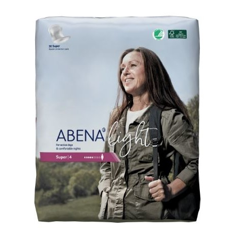 ABENA LIGHT SUPER 4 VLOŽKY ABSORPČNÍ, 850ML, 30KS