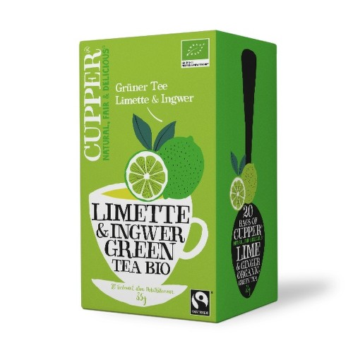 Cupper BIO Lime  Ginger Green Tea 20 n.s.
