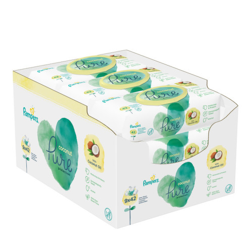 Pampers ubrousky Pure Coconut 9x42ks