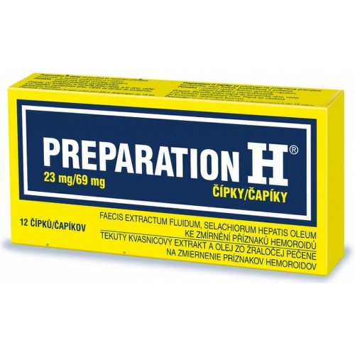 PREPARATION H 23MG 69MG čípek 12 I
