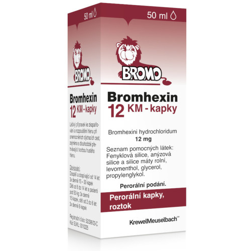 BROMHEXIN KM 12MG ML perorální GTT SOL 50ML