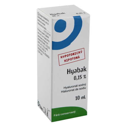 Hyabak 0.15 percent gtt. 10ml