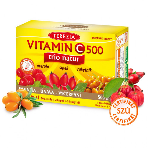 Dárek - TEREZIA Vitamin C 500mg TRIO NATUR cps.60Dárek - BE907