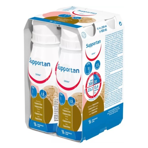 SUPPORTAN DRINK CAPPUCCINO perorální SOL 4X200ML