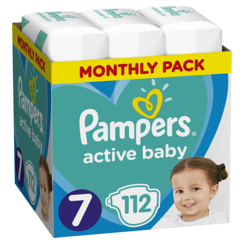 Pampers Active Baby Pleny S7 15 kg Monthly Pack 112ks