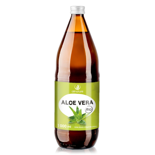 Allnature Aloe Vera BIO 100 percent šťáva 1000 ml