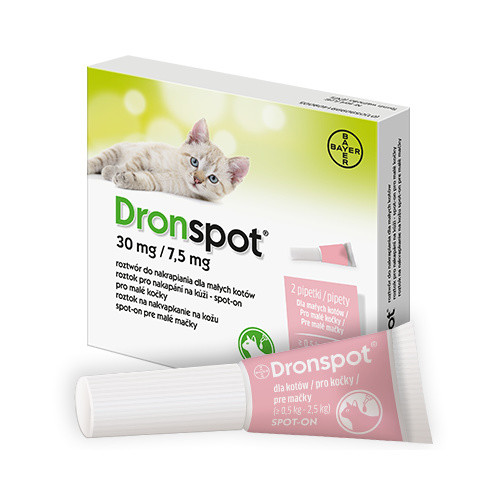 Dronspot 30mg 7.5mg malé kočky spot-on 2x0.35ml
