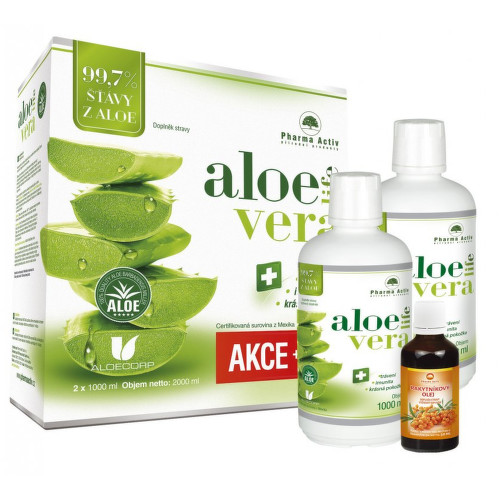 AloeVeraLife 1 1 1000ml 100 percent Rakytník.olej 50ml