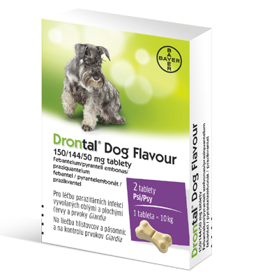 Drontal Dog Flavour 150 144 50mg psy tbl.2