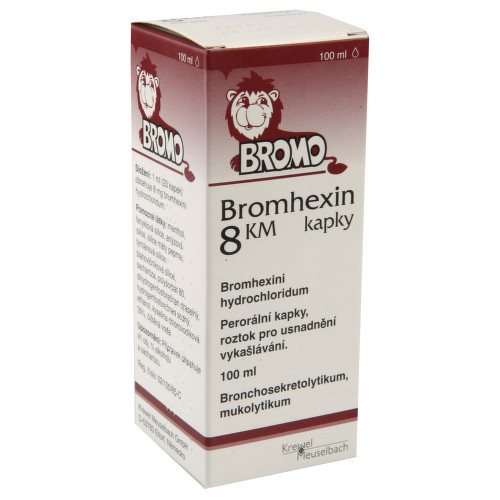 BROMHEXIN KM 8MG ML perorální GTT SOL 1X100ML
