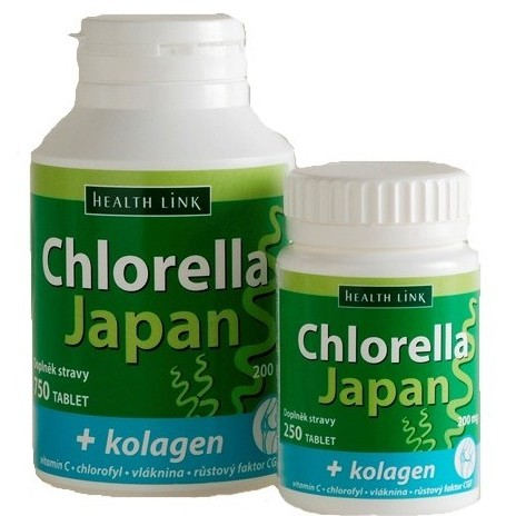 Chlorella Japan  kolagen tbl.250