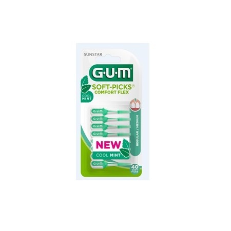 GUM SoftPicks comfort flex Mint 40ks G670M40