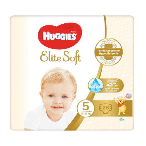 E-shop HUGGIES Elite Soft 5 12-22kg 28ks