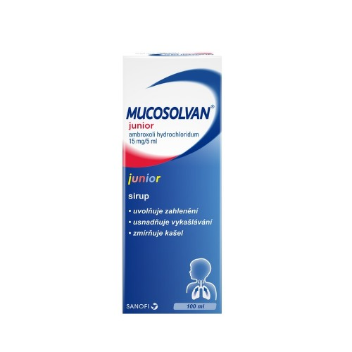MUCOSOLVAN JUNIOR 15MG 5ML sirup 100ML