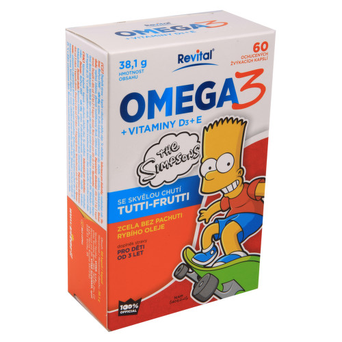 The Simpsons Omega 3 vitaminy D a E cps.60