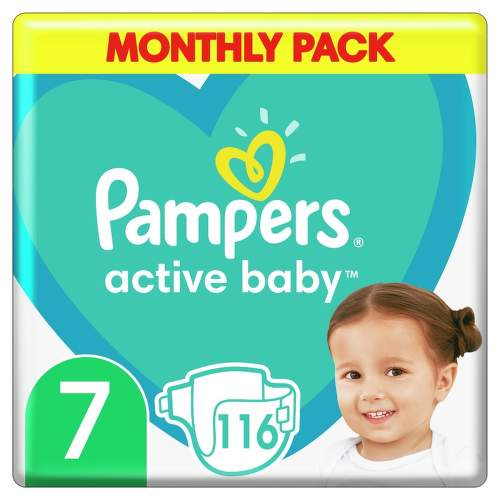 Pampers Active Baby Pleny Monthy Box S7 15 kg 116ks