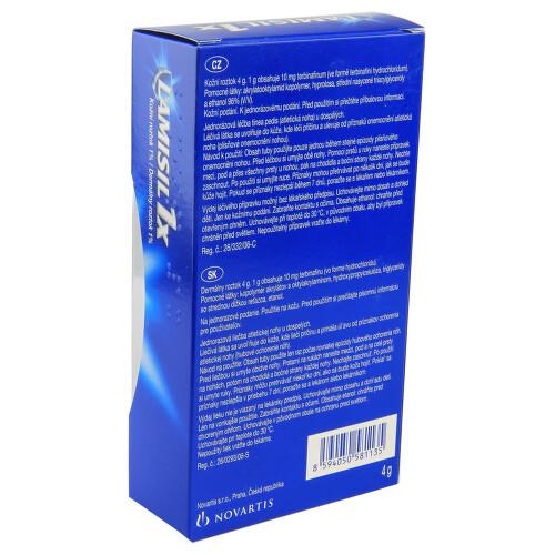 LAMISIL 1X KOŽNÍ ROZTOK 1% kožní podání roztok 1X4GM/40MG