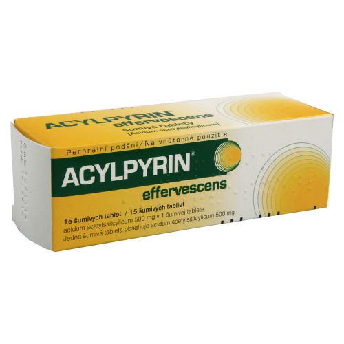ACYLPYRIN EFFERVESCENS perorální šumivá tableta 15X500MG