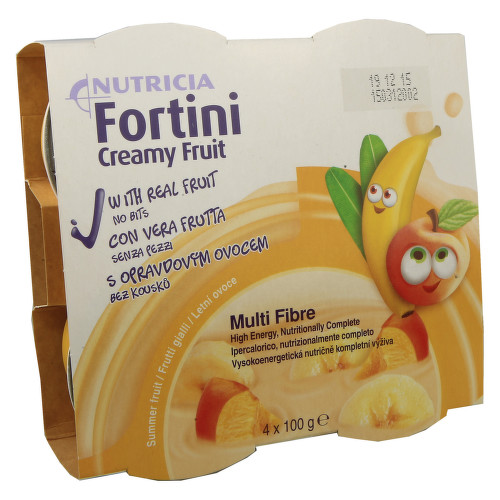 FORTINI CREAMY FRUIT MULTI FIBRE LETNÍ OVOCE perorální roztok 4X100GM
