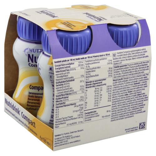 NUTRIDRINK COMPACT S PŘÍCHUTÍ BANÁNOVOU perorální roztok 4X125ML