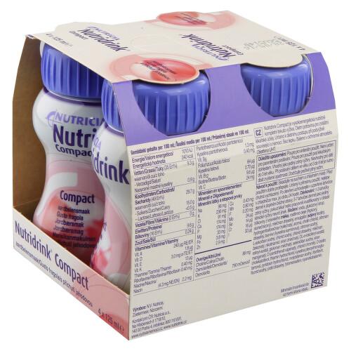 NUTRIDRINK COMPACT S PŘÍCHUTÍ JAHODOVOU perorální roztok 4X125ML