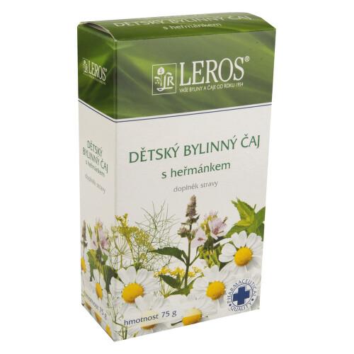 LEROS Dětský bylinný čaj s heřmánkem 75g