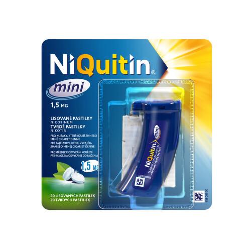 NIQUITIN MINI 1,5 MG orální podání lisovaná pastilka 20X1.5MG