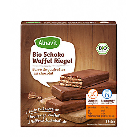 Alnavit Čokoládové oplatkové bio tyčinky 75g