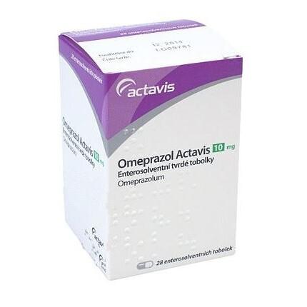 OMEPRAZOL ACTAVIS 10MG enterosolventní tvrdé tobolky 28