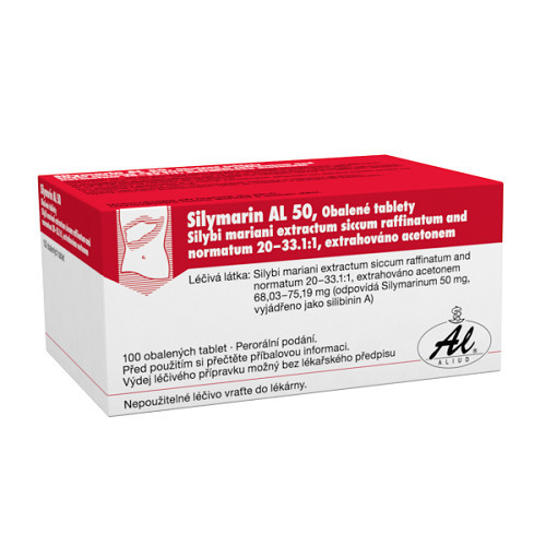 SILYMARIN AL 50 50MG obalené tablety 100