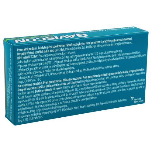 GAVISCON ŽVÝKACÍ TABLETY perorální žvýkací tableta 24