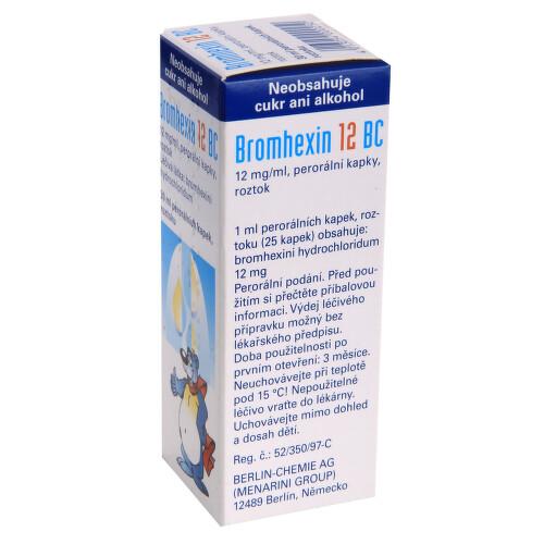 BROMHEXIN 12 BC perorální kapky, roztok 1X30ML