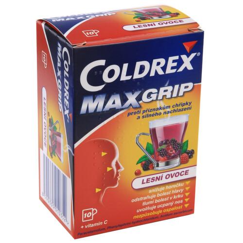 COLDREX MAXGRIP LESNÍ OVOCE perorální prášek pro přípravu roztoku 10