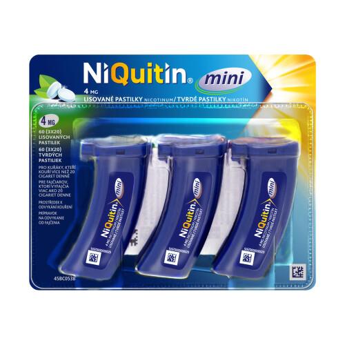 NIQUITIN MINI 4 MG orální podání lisovaná pastilka 60X4MG
