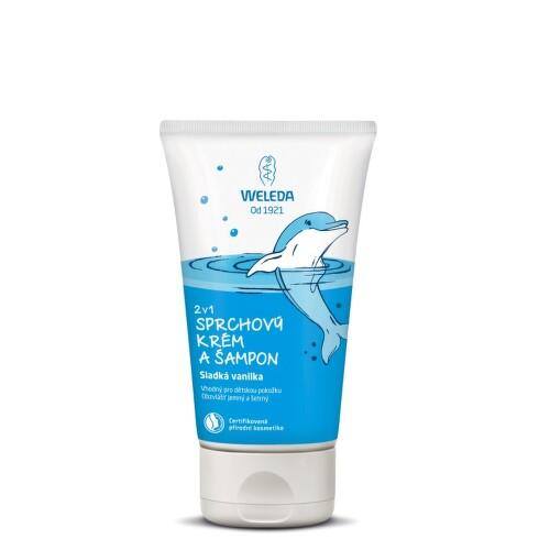 WELEDA 2v1 sprchový krém a šampon Sladká vanilka