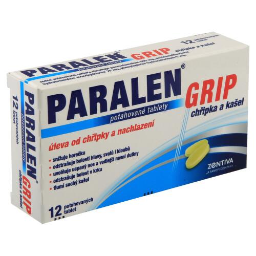 PARALEN GRIP CHŘIPKA A KAŠEL perorální potahované tablety 12
