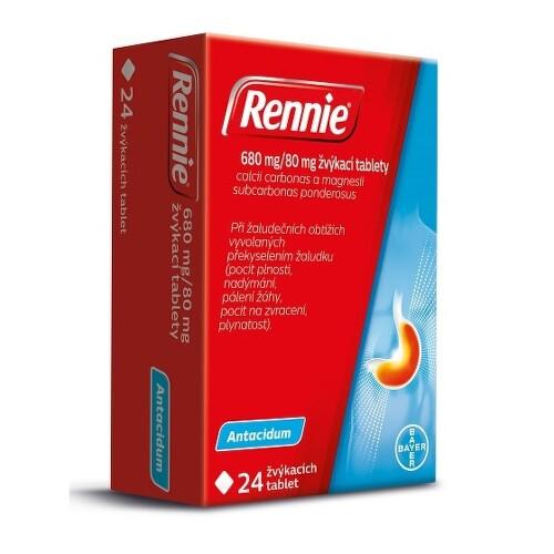 RENNIE 680MG/80MG žvýkací tableta 24