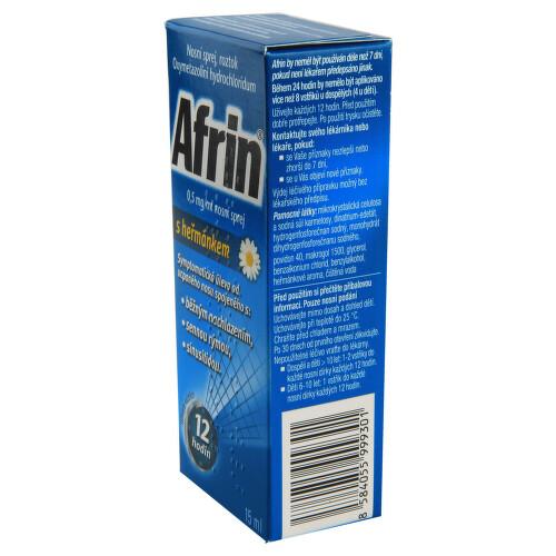 AFRIN 0,5 MG/ML NOSNÍ SPREJ S HEŘMÁNKEM nosní podání sprej, roztok 1X15ML/7.5MG