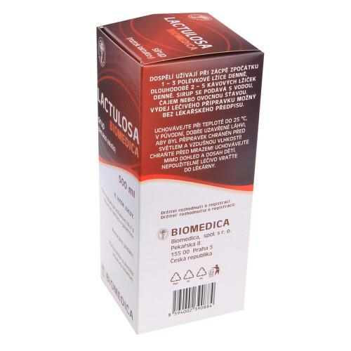 LACTULOSA BIOMEDICA perorální sirup 1X500ML 50%