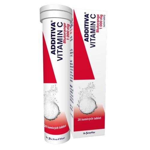 ADDITIVA VITAMIN C BLUTORANGE perorální šumivá tableta 20X1GM