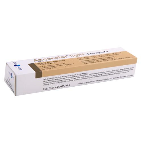 AKNECOLOR LIGHT KRÉMPASTA kožní podání pasta 1X30GM 1%